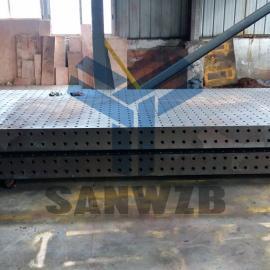 4米焊接平台,4米柔性工装平台,4米铸铁平台,柔性工装夹具