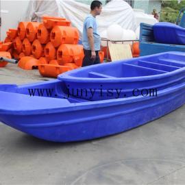 河南3.6米塑料养殖船 滚塑双层塑料船 2.5米塑料船