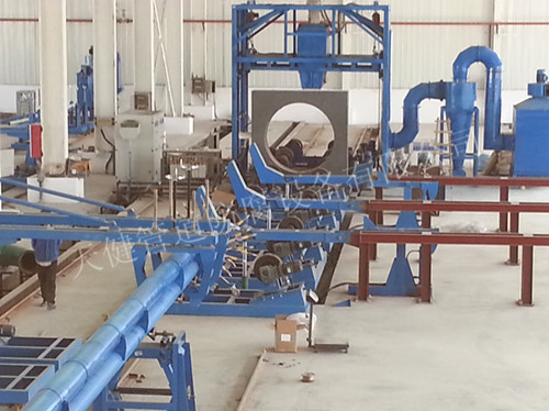 管道内环氧外聚乙烯防腐生产线 管道防腐设备