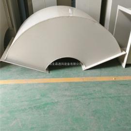 PP注塑料成型防腐风管加工定制 聚丙烯方圆耐酸碱腐蚀通风管道加&