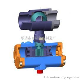 浙江不锈钢304两片式气动(电动)球阀2PC-D15~D25 双作用