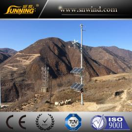 广州尚能供应100W高压线输电线路风光互补智慧监控供电系统