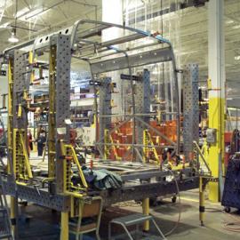 三维柔性组合焊接工装夹具在汽车行业中的应用,车架焊接工装
