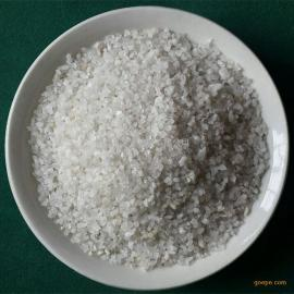 高强度耐磨损锋利棱角白色颗粒石英喷沙