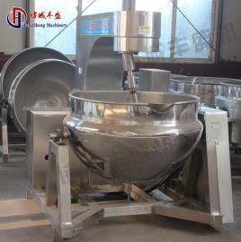 300L全自动熬酱锅 辣椒酱刮底搅拌炒锅 行星搅拌夹层锅