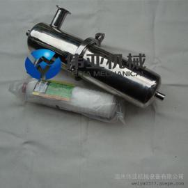 伟亚不锈钢快装除菌过滤器,304蒸汽过滤器,快装管道过滤器