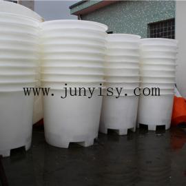 1000升圆形叉车桶 塑料叉车1吨圆形桶