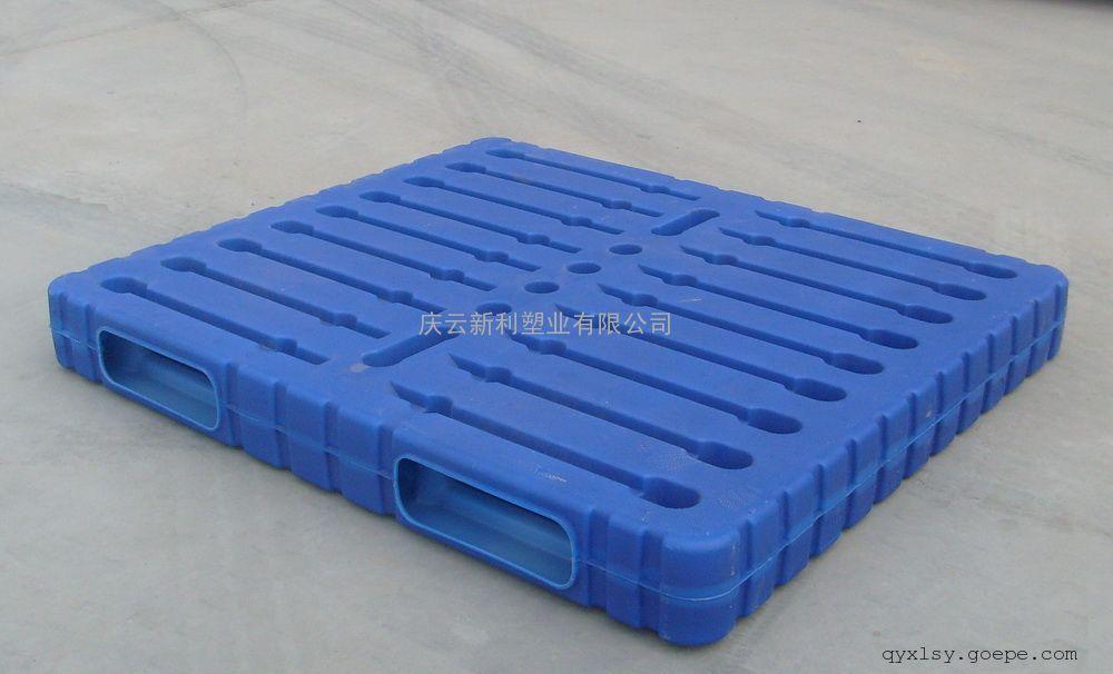 庆云新利托盘,蓝色塑料托盘,吹塑托盘,1412中空托盘