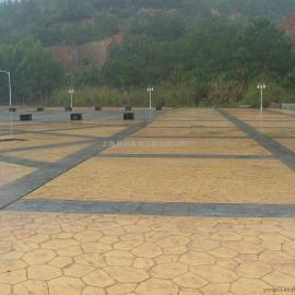 湘潭混凝土压模地坪 韶山园林景观艺术地坪 湘乡仿木纹路面