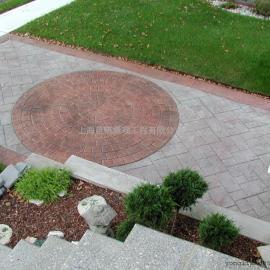 黄冈园林绿化艺术地坪 罗田水泥压模地坪 红安度假村景观地坪