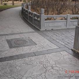 哈尔滨防滑压模地坪 南岗鹅卵石压印混凝土 道外艺术压花地坪