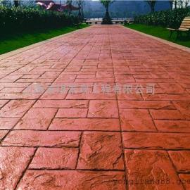 武汉彩色艺术地坪|新洲人行道压模地坪|黄陂水泥压花地坪材料