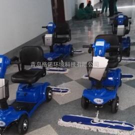 商场保洁用电动三轮尘推车