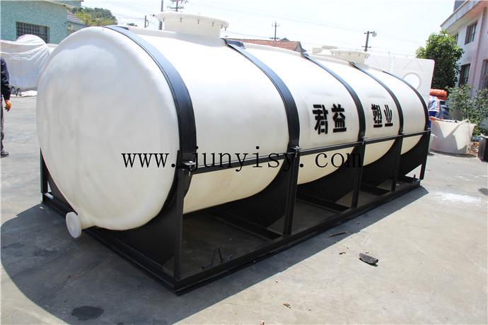 2立方卧式运输储存桶 2000升卧式液体运输桶直销