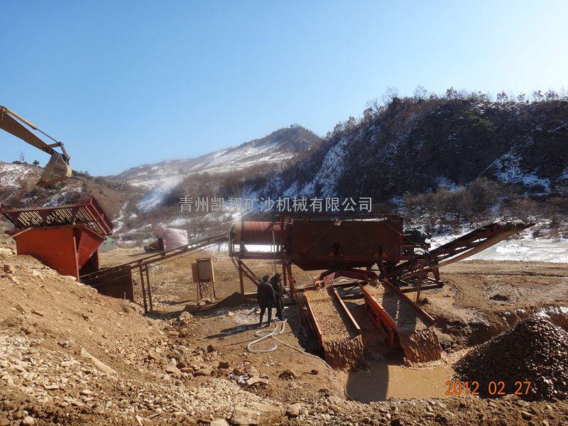 淘金设备、旱地淘金设备、出口朝鲜淘金设备、鼓动溜槽