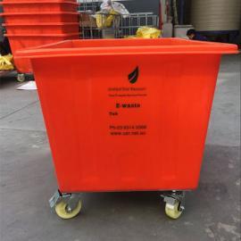 舟山方形带轮子K800L塑料方箱纺织桶五金周转箱厂家直销