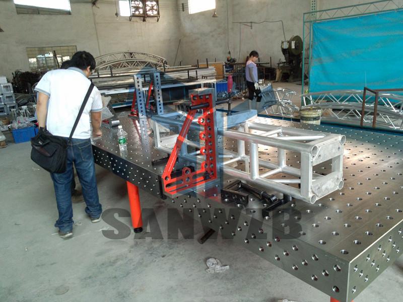 舞台桁架柔性组合焊接工装夹具,演艺设备焊接工装夹具