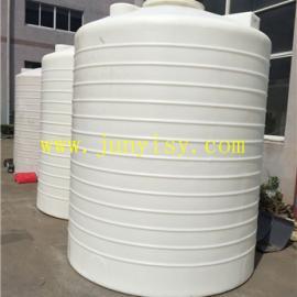 厂家直销20吨平底酸碱储罐 20立方加强塑料储罐