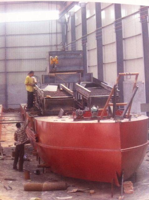 挖沙船朝鲜挖金船