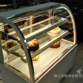 蛋糕柜厂商 蛋糕柜冷藏 面包展示柜 大理石圆弧蛋糕柜