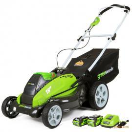 格力博40V电动草坪机,充电式锂电割草机,手推式草坪机