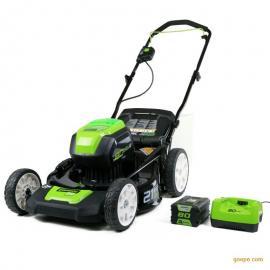 格力博80V电动草坪机,充电式锂电割草机,手推式草坪机