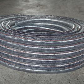 PVC透明钢丝增强软管 耐高压胶管 环保钢丝管 透明钢丝软管