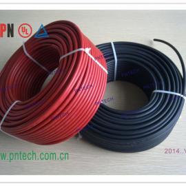 光伏电缆 PV1-F太阳能电缆 4平方红色