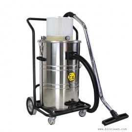 气动反吹工业吸尘器,大容量80L气动工业吸尘器