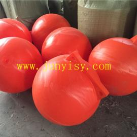 厂家供应40CM聚乙烯浮球 工程专用PE浮体 海洋浮体