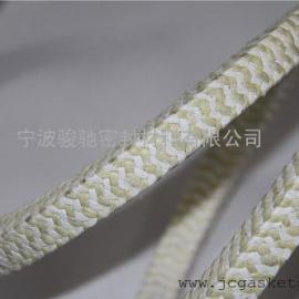 芳纶纤维盘根|骏驰出品芳纶纤维混编白四氟盘根