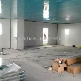 无锡电子万级净化车间施工中 岩棉板围墙