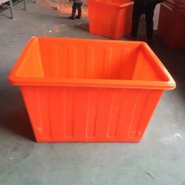 广州K800L纺织厂用元宝桶1000L布草车周转箱牛筋材质