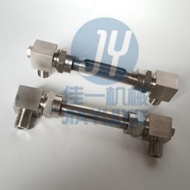 小型直角玻璃管液位计 油箱专用液位计 外螺纹玻璃管水位计