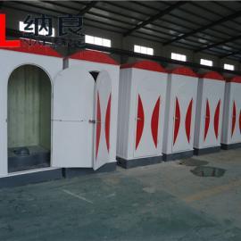 河北纳良专业生产订制各种造型玻璃钢移动厕所 环卫洗手间