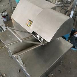 小型手推式猪蹄劈半机 省时省力烤猪手劈半设备