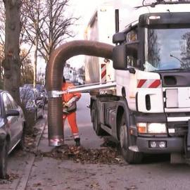 无尘环保落叶收集机-垃圾收集机械-树叶清扫机械专业供应