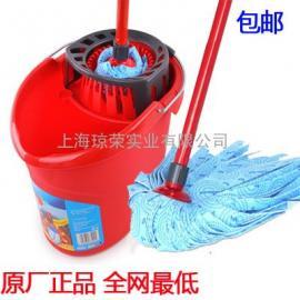 德国微力达无纺布拖把+桶套装除尘墩布拖布超耐用高效能拧干水桶