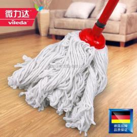 微力达棉线拖把 传统拖把水拖耐磨不易掉毛 加长加大全棉线拖把