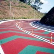 彩色陶瓷颗粒防滑路面地坪用途