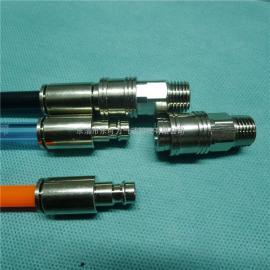 高品质金属气管快速C式自封接头自动封闭式管接头快插