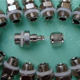 高质量铜镀镍快拧接头直通终端接头8-M8*1螺纹公制接头