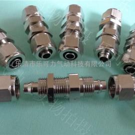 气管接头快拧式终端直通隔板接头串板接头两头接12MM气管