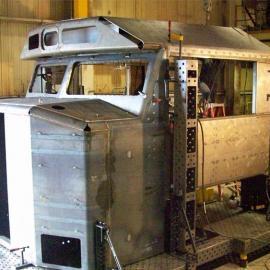 环卫车道路清障车专用车柔性组对焊接工装夹具,焊接工作站