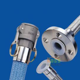 不锈钢丝强化螺旋制药工程管 不锈钢外层强化耐压特氟龙软管