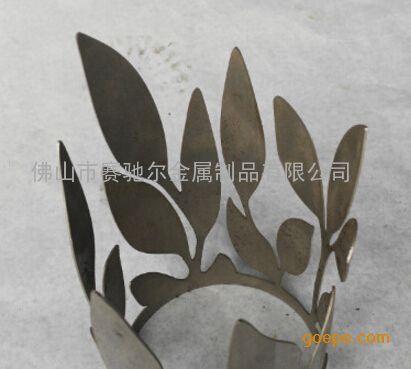 三维不锈钢树叶镂空切割 三维装饰叶子花纹管