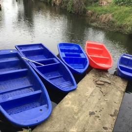 无锡蓝色2.5米带活鱼苍塑料小船扬州3米养殖渔船河道清理船