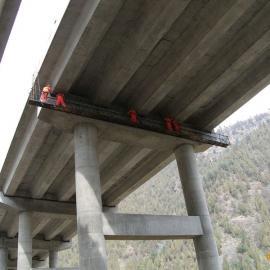 吊篮式桥检车不用租赁 电动型经济耐用博亚牌