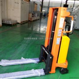 供应 半电动堆高车 1吨2米半电动升高车 北京堆高现货