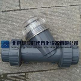 北京景辰透明PVC-Y型过滤器 双由令连接PVC过滤器批发促销